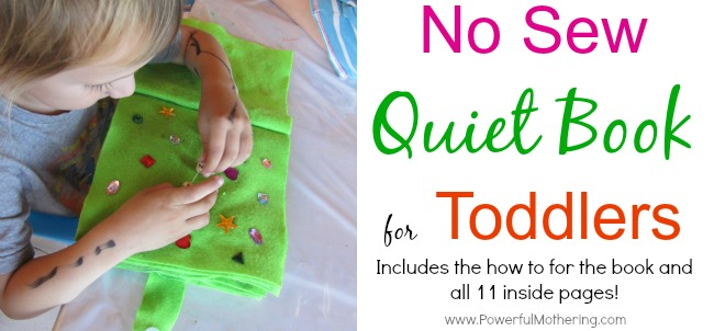 No sew quiet book for toddlers from PowerfulMothering.com