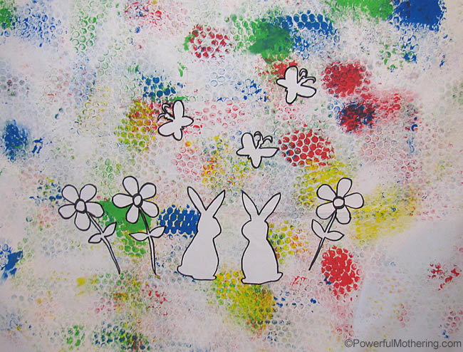 Bubble Wrap Painting On Canvas Art