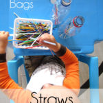 Busy Bags with Straws