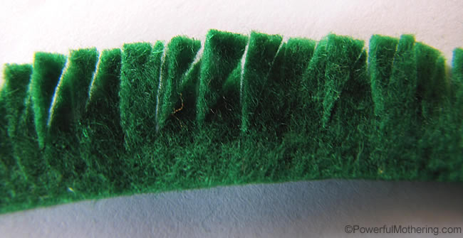 cutting grass of felt