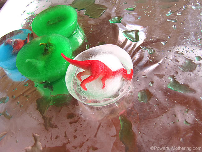 dinosaur in ice play