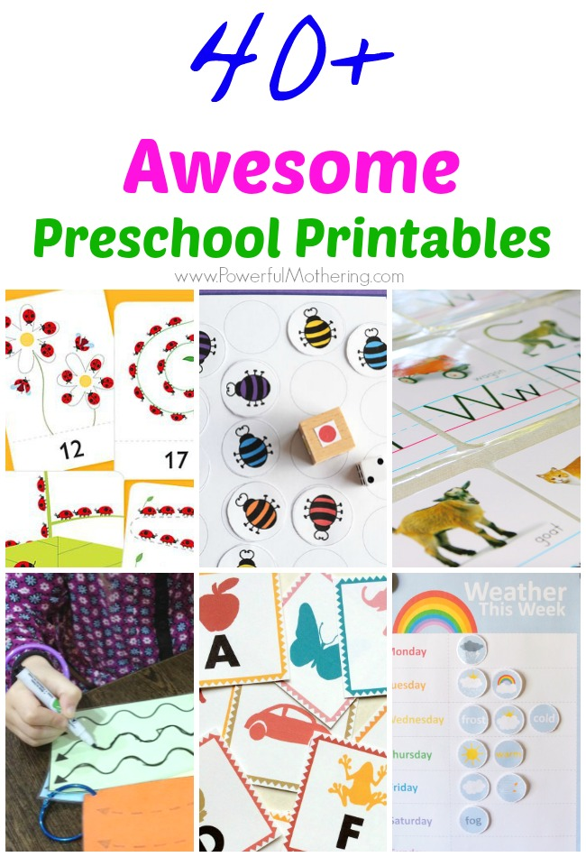 40 Awesome Preschool Printables2