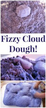 Fizzy Cloud Dough Experiment (Taste Safe)