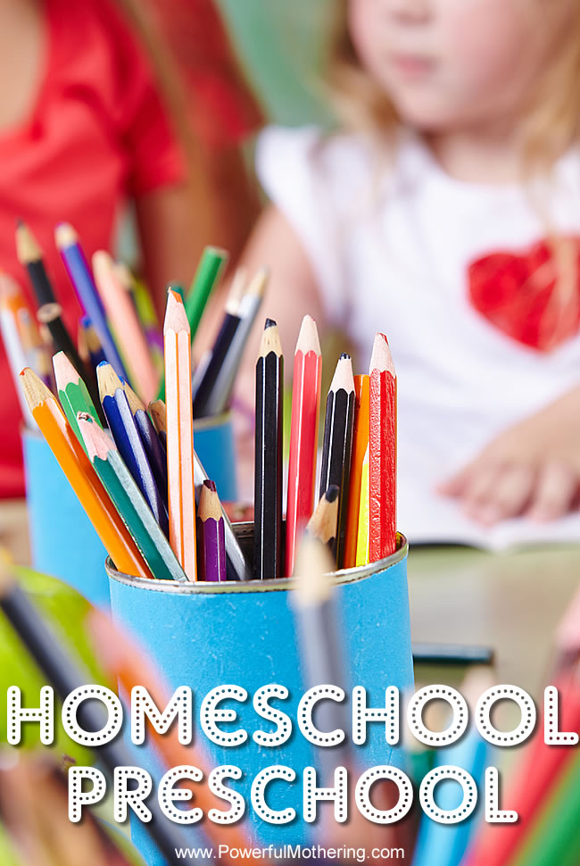 Homeschool Preschool from PowerfulMothering.com