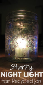 Starry Night Light from Recycled Jars