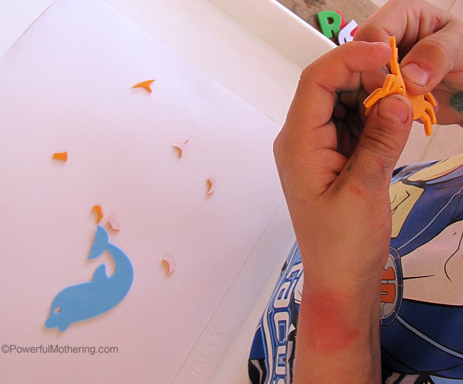 fine motor activity sticker peeling