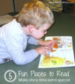 5 Fun Places to Read to Make Storytime Extra Special