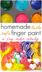 Homemade Finger Paint Recipe with Fine Motor Activity