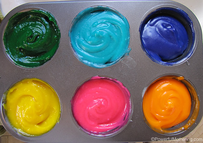 homemade finger paint colors