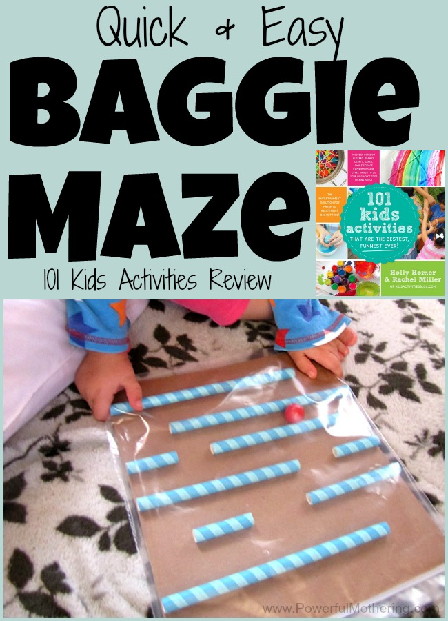 Quick & Easy Baggie Maze from PowerfulMothering.com