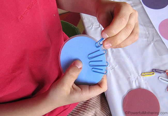 Everyday Fine Motor Materials P Is For Paperclip Busy Bag