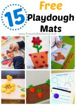 15 Gorgeous Free Playdough Mats