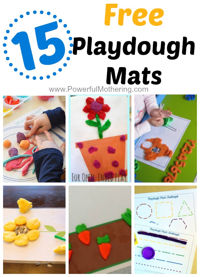 15 Gorgeous Free Playdough Mats from PowerfulMothering.com