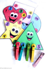 Shapes, Counting and Colors Busy Bag (with Printable)