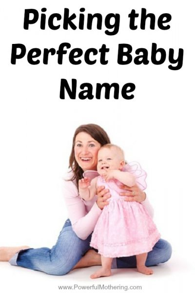 Picking the Perfect Baby Name