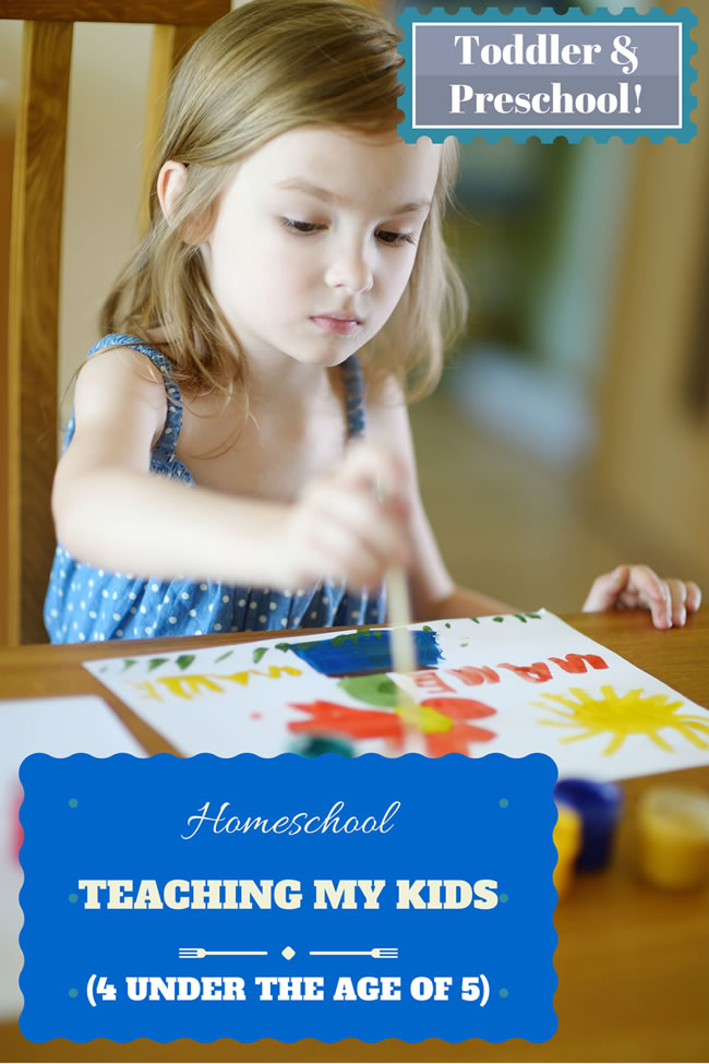 Teaching my Kids (4 under the age of 5) from PowerfulMothering.com