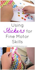 Using Stickers for Fine Motor Skills