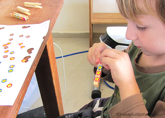bring in other objects to use for fine motor activity idea