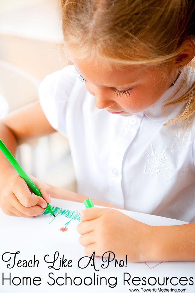 Home Schooling Resources: Teach Like A Pro! from PowerfulMothering.com