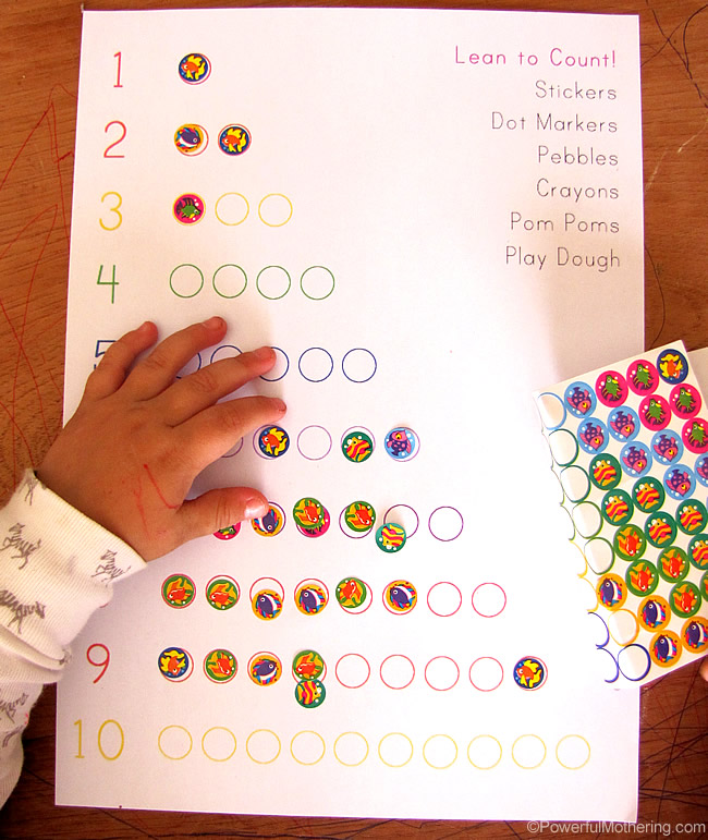 stickers are great fine motor practice for toddlers