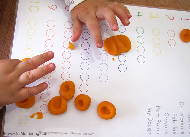 use with play dough for fine motor skills