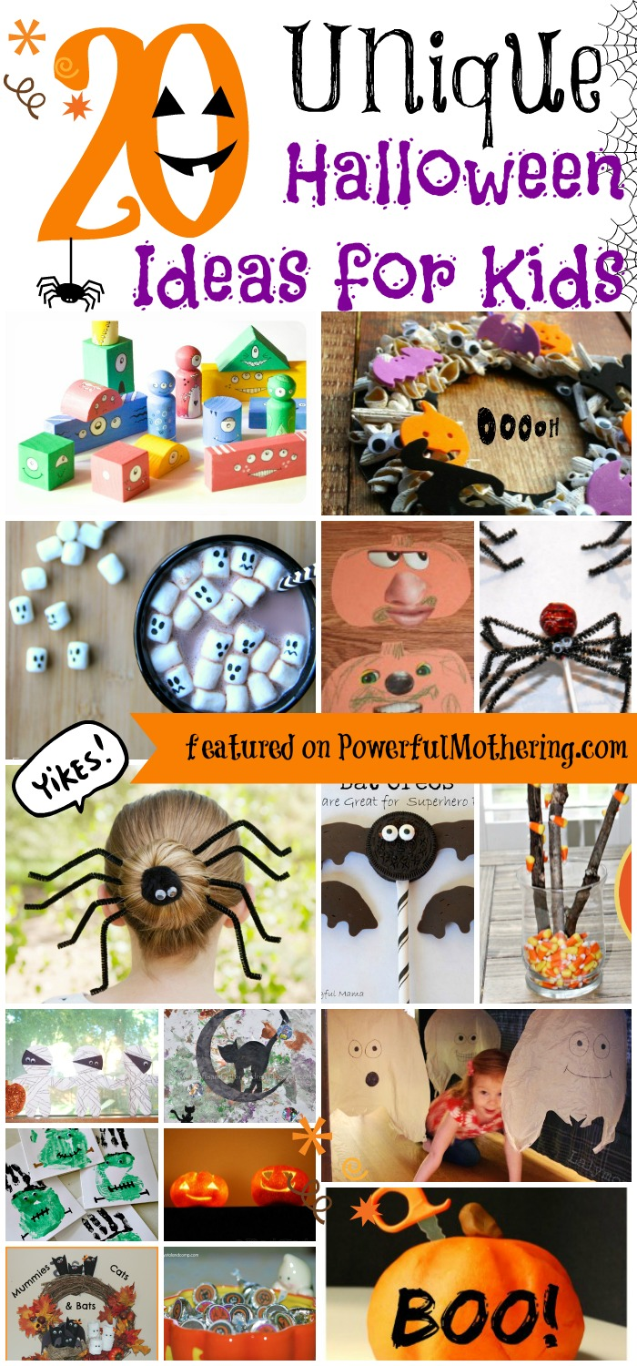 20 Unique Halloween Ideas for Kids from PowerfulMothering.com