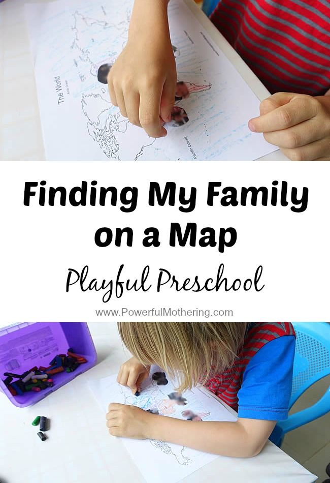 Finding My Family on a Map from PowerfulMothering.com