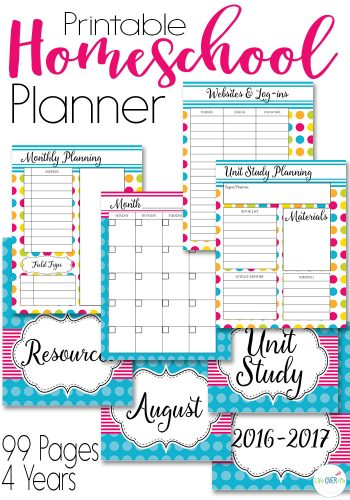 colorful planner