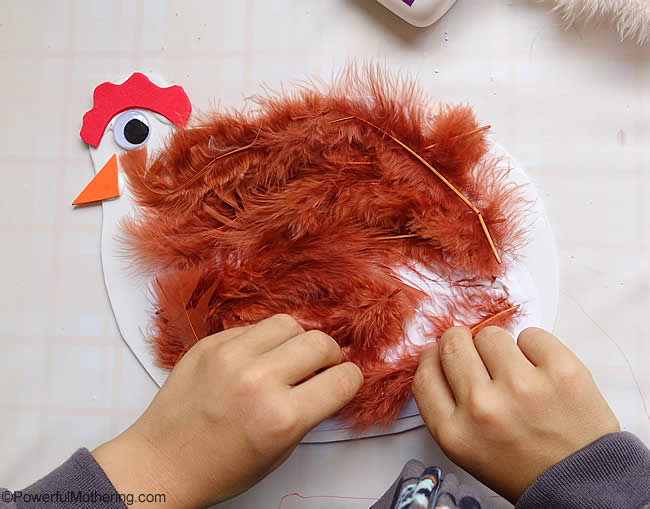 give your hen some feathers