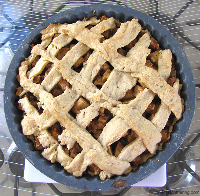 our homemade apple pie
