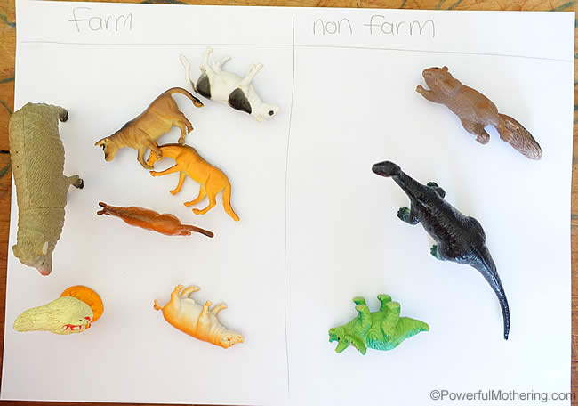 quick and easy farm animals activity