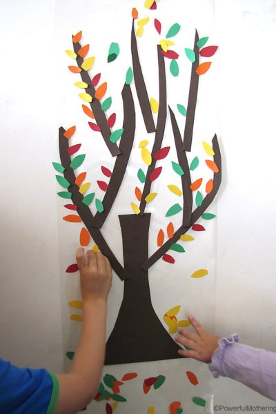 easy fine motor activity for fall from PowerfulMothering.com