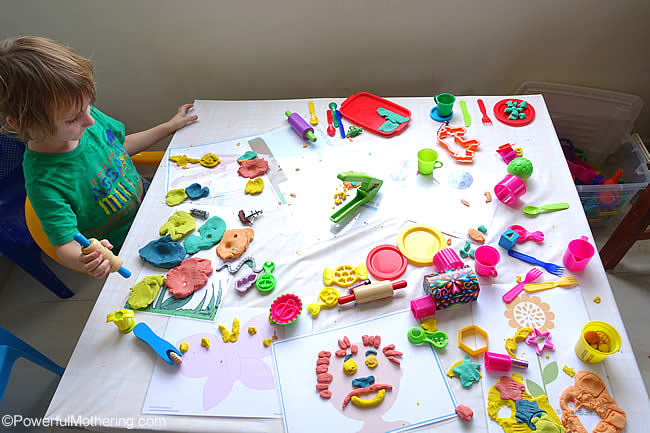 the playdough table