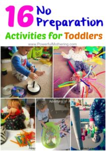 16 No Preparation Activities To Keep Toddlers Busy