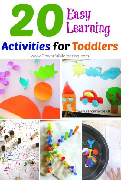 20 Easy Learning Activities for Toddlers from PowerfulMothering.com