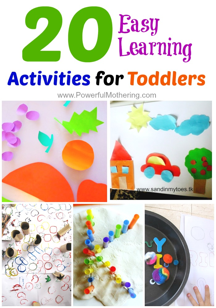 20 Easy Prep And Engaging Learning Activities For Toddlers