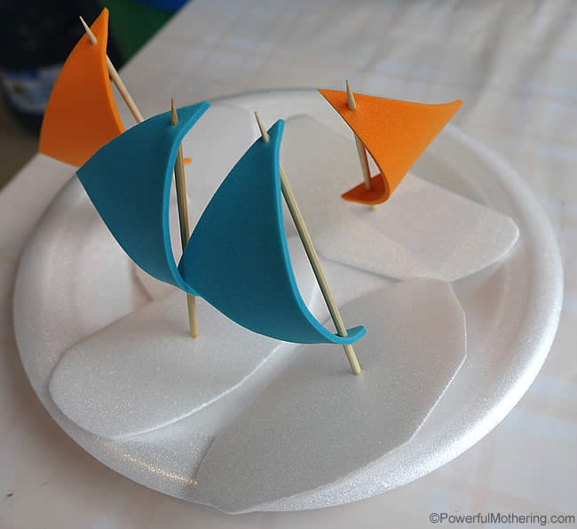 4 cute sail boats
