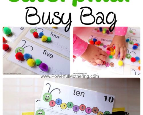 Counting Caterpillar Busy Bag (Printable Numbers 1-10)