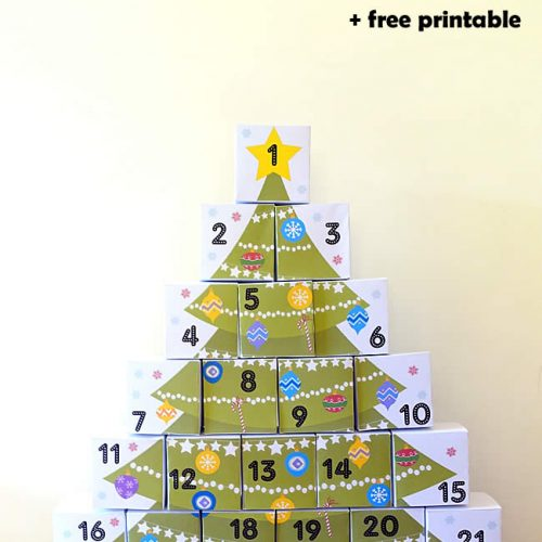 DIY Boxes Advent Calendar with Free Printable from PowerfulMothering.com