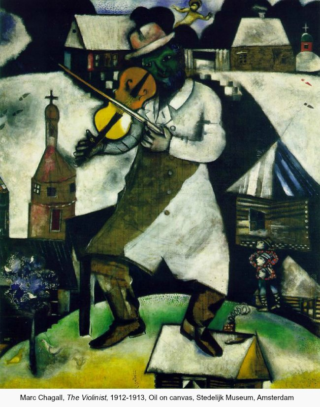 Marc Chagall, The Violinist, 1912-1913, Oil on canvas, Stedelijk Museum, Amsterdam