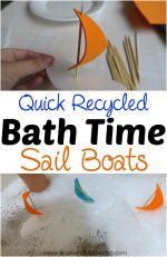 Quick Recycled Bath Time Sail Boats