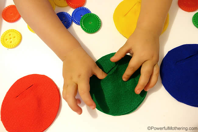 color sorting fine motor activity