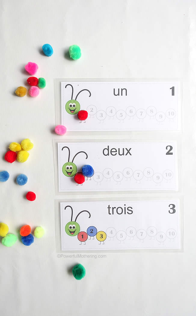 counting numbers 1 10 english spanish french