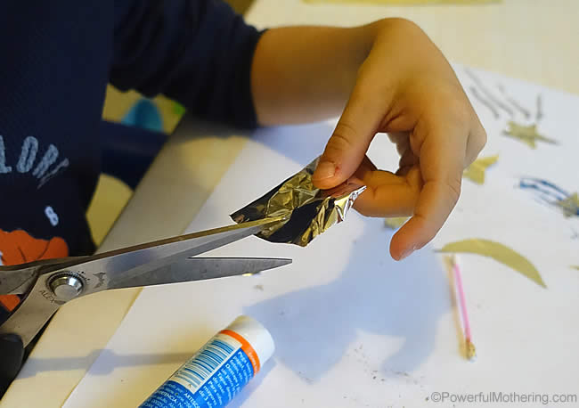 cutting and sticking practice