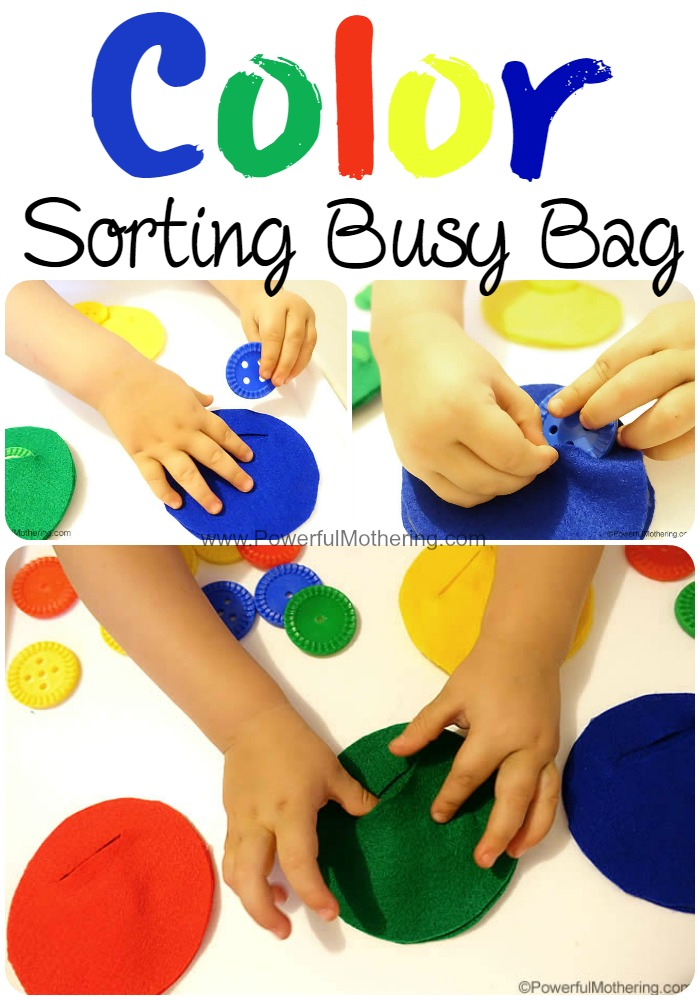 felt color sorting busy bag from PowerfulMothering.com