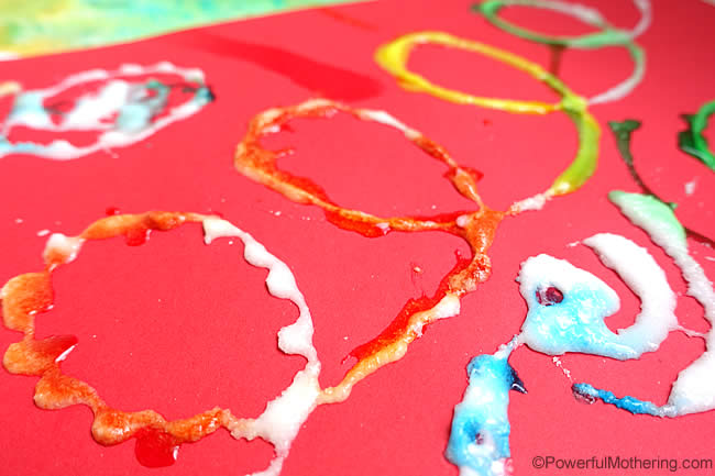 salt painting for fine motor skills