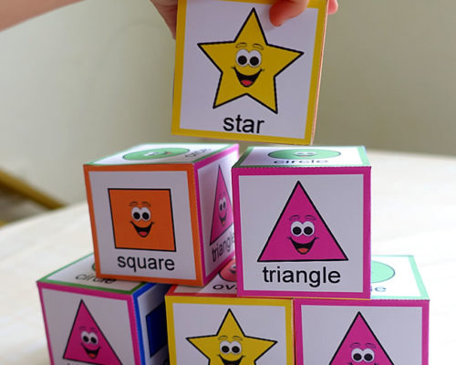 Shape Sorting Blocks (with Free Printable)