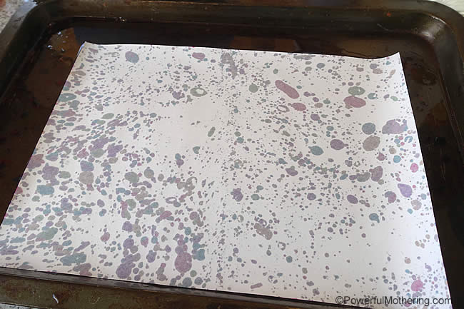 the oil sticking to the paper