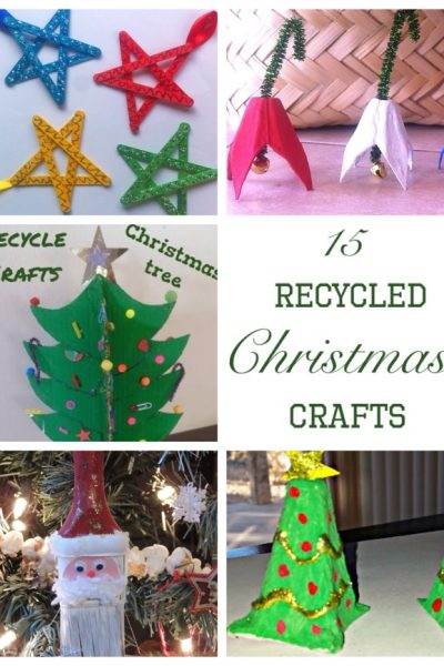 15 recycled xmas crafts