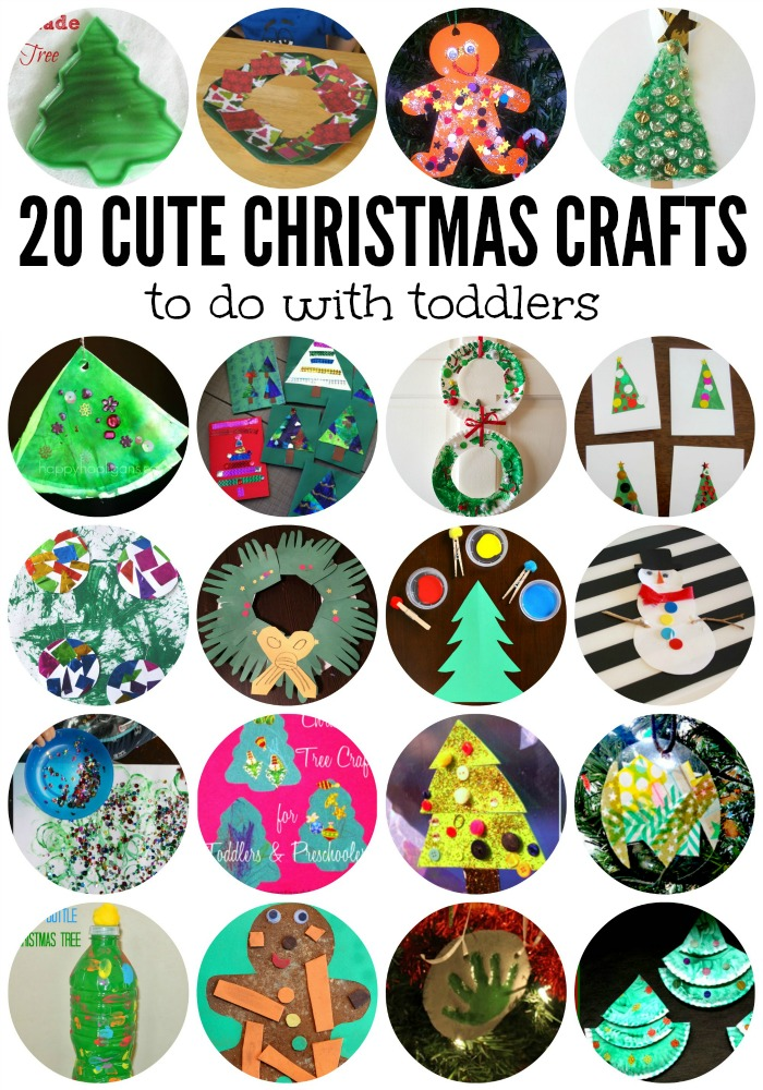 20 Cute Christmas Crafts for Toddlers! With Lalymom.com and PowerfulMothering.com